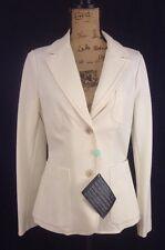 NWT PIAZZA SEMPIONE Cotton Knit Blazer Jacket OFF WHITE IT 48 MSRP (US 12) $1150