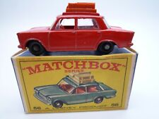 VINTAGE MATCHBOX LESNEY No.56b FIAT 1500 IN ORIGINAL BOX ISSUED 1965 HTF RED