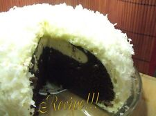 """☆Snowball Cake """"RECIPE""""☆Both Pink & White☆1 From Scratch~1 W/Devil's Fd Cake Mix"""