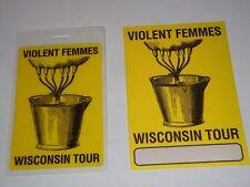 New listing The Violent Femmes 2 Unused Concert Tour Ticket Passes Pass 1 Laminate 1 Cloth N