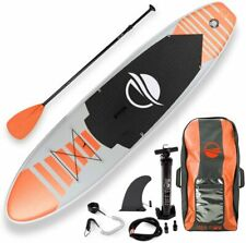SereneLife SLSUPB13 Inflatable Stand Up Paddle Board   Youth & Adult Standing