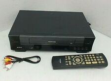 Toshiba W-412 Vcr Player/Recorder with Cables and Remote-Works