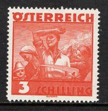 (096)     Austria 1934-38 Costumes 3s Orange (Harvesters) SG736 M/Mint