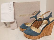 Jimmy Choo Perla Suede Wedge Sandal, Slate Size: 6.5B / 36.5EU