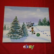 """""""Dang it"""" original signed Hand Painting 16X20 Winter Trees by kid Autumn jackson"""