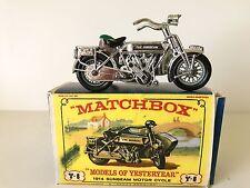 MODEL OF YESTERYEAR 1914 SUNBEAM MOTORCYCLE & SIDECAR - No. Y-8 B VG W/BOX