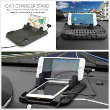 Car Holder Mount Magnetic Charger Stand Pad Dashboard USB For iPhone Android GPS