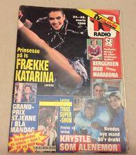 "Dynasty Soap Opera Krystle Linda Evans Back Danish Magazine 1988 ""Se og Hoer"""