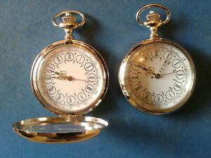 "10 X POCKET WATCHES NO.5 SILVER COLOURED HALF HUNTER,""LOUIS XV "" COLLECTABLE"