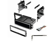 Single Din Dash Kit for Stereo Radio Install Kit W/ Wire Harness Antenna Adapter