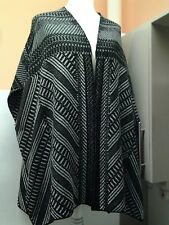 LADIES CAPE PONCHO UK 26 /28 EUR 54 / 56 BLACK / MIX PAPAYA CURVE B.N.W.T.