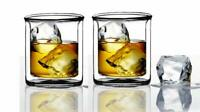 Double-Wall Insulated Tumbler Set-9oz-Double Rocks Glass Old Fashioned Whiskey