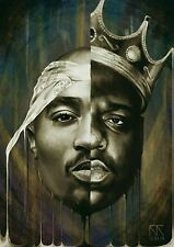 Notorious B.I.G Biggie Smalls Tupac Shakur Art Silk Poster Wall Decor 24x36inch