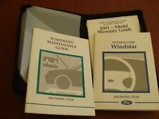 2001 Ford Windstar OEM Van Owner's Guide in Original Binder Nice Excellent Cond.