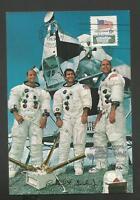 APOLLO 12 PRIME CREW MEMBERS CONRAD,GORDON,BEAN NOV 14,1969 CAPE POSTCARD