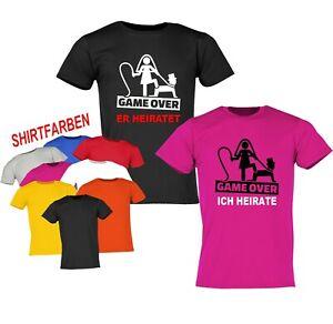 Junggesellenabschied T-Shirt JGA Hochzeit Party Herren *GAME OVER* Bräutigam