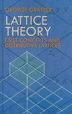 Lattice Theory: First Concepts and Distributive Lattices (Dover Books on Mathema