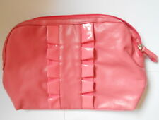 Clarins Pink Ruffle Bag Cosmetics Bag Toiletry Makeup Case - Brand New