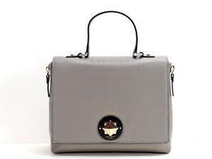 Kate Spade New York Varick Street Abbie Satchel Handbag + Strap Grey Leather New