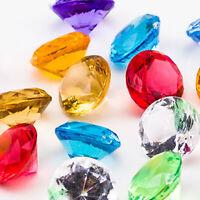 Acrylic Faux Diamond Jewels Wedding Venue Decoration Supplies Pirate Gems Bulk