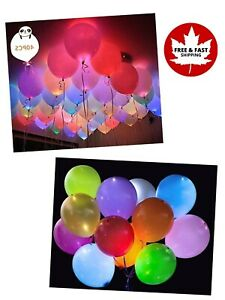 LED RGB Light Up Balloons 40pcs for Halloween Birthday Or Dark Party Decorations