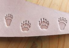 017-99 Aluminium Bear Grizzly tracks paw 4 Leather stamps