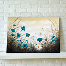 READY TO HANG Framed Canvas Prints Modern Wall Art Picture-White Daisy Flower