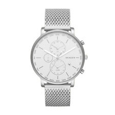 Skagen Men's Hagen World Time and Alarm Steel Mesh Watch SKW6301