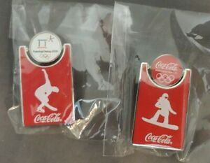Coca-Cola Pins 2018 PyeongChang USA Olympic Figure Skating & Snow Boarding RARE
