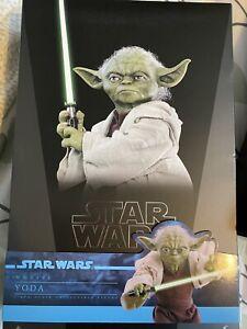 hot toys star wars Yoda 1/6 Scale Mms495 Mint
