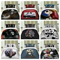 Nightmare Before Christmas Duvet Cover Set Twin/Full/Queen/King Size Bedding Set