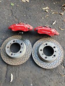 Porsche Boxster 986 3.2S BREMBO REAR BRAKE CALIPERS & Discs Red etc