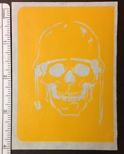 Army Helmet Front Skull Design stencil for Airbrush Tattoo craft Art