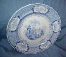 "Antique Stone Ware RUC Ridgways? Mantua 9 ½""  Blue Transferware Plate"