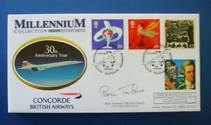 BENHAM 1999 TRAVELLERS TALE OFFICIAL CONCORDE FDC SIGNED BY BRIAN TRUBSHAW