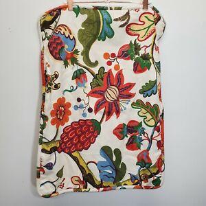 Pottery Barn 2 pillow shams linen Cotton 19x26 standard floral tropical fruit