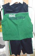 New Boy's green  2pc Nike basketball shorts set   Size 12 months