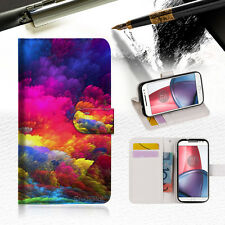 Colorful Cloud Wallet TPU Case Cover for Motorola Moto Z Play A021