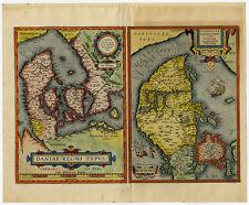 Antique Print-DENMARK-JUTLAND-Ortelius-606