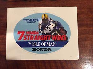 Joey Dunlop GENIUNE Honda 1988 Promotional Sticker