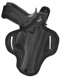 Akar | OWB Thumb Break Leather Belt Holster Fits Browning Hi-Power
