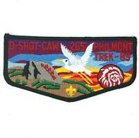 O Shot Caw Lodge 265 S15 Flap Philmont Trek 1989 South Florida Council  Patch