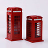 BRITISH RED TELEPHONE LONDON MONEYBOX COIN BOX DIECAST METAL PIGGY BANKS - UK