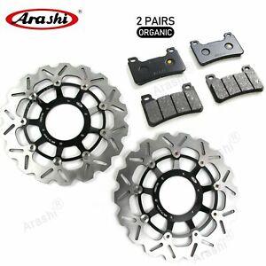 Fit Honda CB1000R 2009 - 2013 2012 2011 Front Brake Disk Rotors & Brake Pads