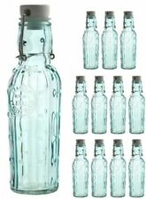 12 Glass Bottles 250ml with Clamp Lock and Silkionring
