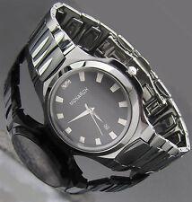 Monarch Luxus Tungsten Wolfram echt Diamanten Herren Armband Uhr Munich Damen