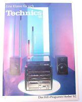 Technics 82 1982 Hifi Audio Vintage Rarität Katalog Herbst-Programm