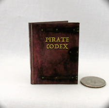 THE PIRATE CODEX 1:6 Scale Readable Illustrated Miniature Book Caribbean
