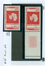French Antarctic Stamps..2x #45 Mint-NH..Cat:$120