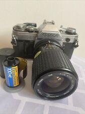 Canon AE-1 SLR Film Camera w/ 35-75mm Lens - Black- Untested